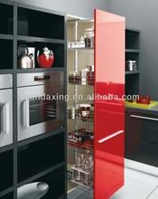 Hot Sales High Gloss Kitchen Cabinet,Kitchen Furniture,Red Black and White Kitchen Design Ideas