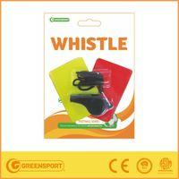 Black custom sport plastic mouth whistle