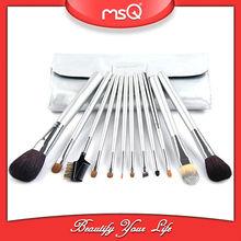 MSQ 12pcs professional animal hair makeup tools