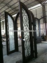 Entry door Wrought Iron door window Entrance Doors factory made in China home decoration buy faucet in home deport