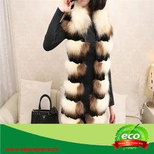 Factory Directsale Real Fox Fur & Rabbit Skin Women's Long Clothing