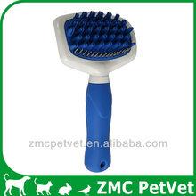 Pet Rake Bath Brush, rubber tipped brush,shower massage brush (L)