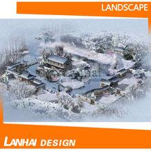 inverno bel progettazione del paesaggio