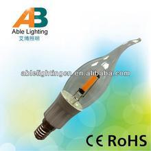 1.6w led bulb dimmable 1.5w cob led 200lm light e12 led candle bulb