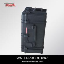 waterproof hard plastic combo+rack+case heavy duty case