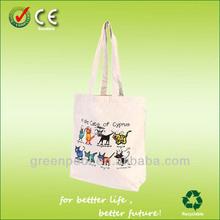 2015 promotional cotton canvas tote bag long handle