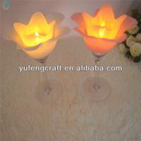 glass flower for tealight
