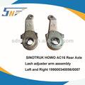 Sinotruk ac16 trasero de freno del eje de ajuste del brazo, de freno de ajuste del brazo de montaje, 199000340057