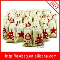 2014 new design high quaity organic cotton drawstring bags