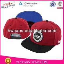 80% acrylic 20% wool flat brim embroidery snapback hat logo