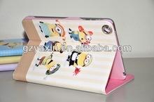 Despicable Me 2 Minions Smart Cover Leather Case For ipad mini,Tablet Case For Ipad Despicable Me Case