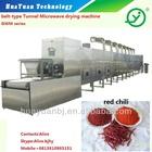 microwave tunnel chili dryer/chili drying machine/food dehydrating equipment