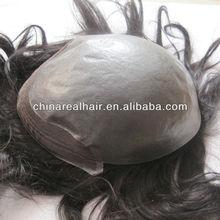 100% human hair super thin skin toupee