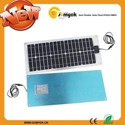 2013 New 22W 12V Monocrystalline Semi Flexible Solar Panle for boat using