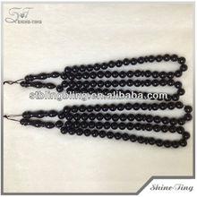 naturali di alta qualità corallo nero rosario musulmano preghiera tasbih perline di corallo nero