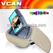 9inch headrest car dvd with zipper cover wireless joystick HAV-931