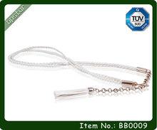 Fashionable Western Braided Belt with Maasai Beads