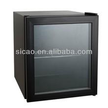 49L 5-10'C 12 Bottles Display Wine Cooling Machine, Metal Beer Cooler Table Top