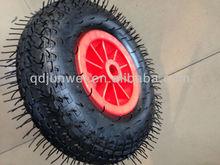 Pneumatic Rubber Wheel 13*4.00-6 steel roller wheel for sale