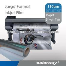 Silver Color Inkjet PET Film (matte,sandy, gloss, silk surface, printing foil, printable film)
