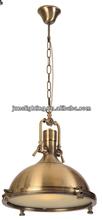 Antique brass casting aluminium industrial pendant /hanging lamp