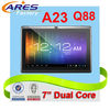Popular Allwinner A23 Cortex A7 Android 4.2 Double Camera 7 inch Dual Core Tablet PC Q88,WIFI,USB Keyboard,Mouse