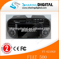 dvd player car with GPS Fiat 500 Abarth 500 FT-6210GD