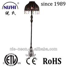 Moroccan Lantern lamp multi color crystal metal floor lamp wholesale indian floor lamp NS-124056