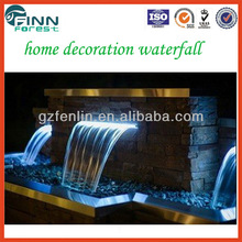 Stainless steel 304 outdoor and indoor home decoration waterfall