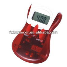 promotional pedometer multifunctional pedometer step/disance/calorie counter promotional pedometer with clip