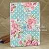 flower design case for ipad air back cover