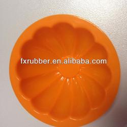 Orange Halloween pumpkin shaped mini cake silicone mould