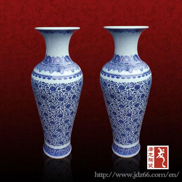 Antigo e moderno azul e branco vasos de chão venda