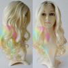New trend custom dark roots human hair blonde wigs