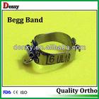 Begg band dental orthodontic bands