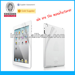 For iPad 2 clear screen protector oem/odm( High clear)