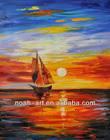 Beautiful Sunrise Seascape Oil Painting