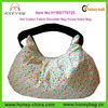 Cream Yellow Polka Dot Cotton Fabric Sling Shoulder Bag Purse Cute Hobo Bag