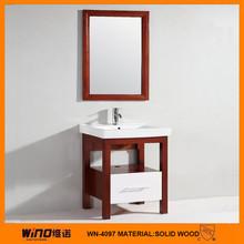 modern solid wood bathroom vanity sink basin cabinet set