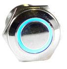 Blue Angel Eye Metal LED Vandal Proof Latching Push Button Switch Car 12VBlue Angel Eye Metal LED Vandal Proof Latching Push Bu