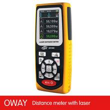 Backlight LCD 100 meter range laser distance meter