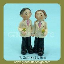 Decorative resin gay wedding cake topper