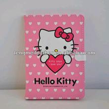 Pink Hello Kitty Cute Case For Apple iPad mini,Pu leather Case For Ipad Mini