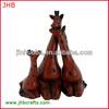 2014 new resin fake wood giraffe decorative ornament
