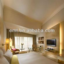 Mainly white colour tone hotel bedroom set furniture,2014 hotel furniture (EMT-HTB17- (1))