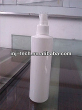 300ml plastic PET white spary bottle with clear lid
