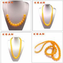 Jewelry BPA Free Food Grade Silicone Amber Beads