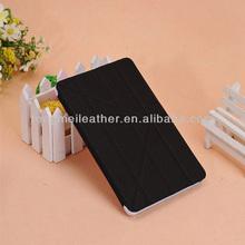 For iPad Mini Flip Cover Case With Leather Stand,Black Tri-Fold Smart Case Cover For Apple iPad Mini
