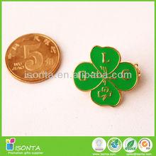 Promotional soft enamel flower lapel pin