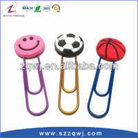 Customized 3D Soft PVC Designer Paper Clips Manufacturer from china